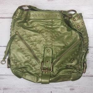 Isabella Fiore XL metallic studded shoulder bag